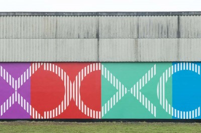 DANIEL BUREN - 'New wall painting'