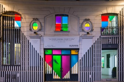 Daniel Buren - 'Le Grand Losange, travail in situ'