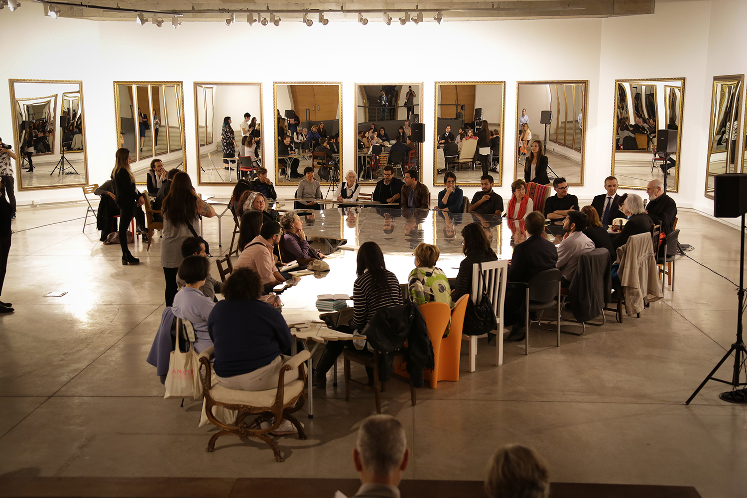 "Michelangelo Pistoletto - Round table ""Love Difference"": Thursday October 25th 2018 at 12am"