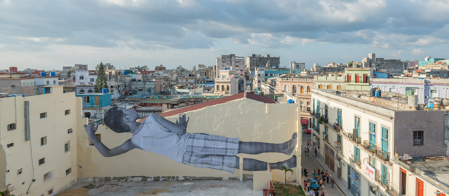 JR presents 'GIANTS, PEEKING AT THE CITY, HAVANA, CUBA': 4° EDITION XXL ONLINE