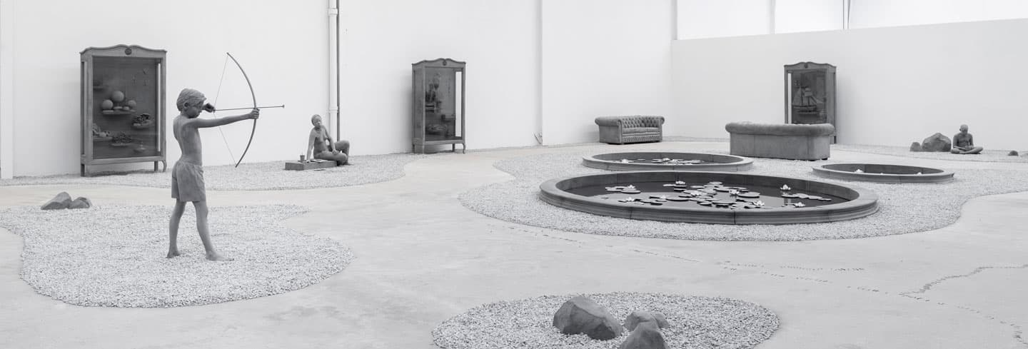 HANS OP DE BEECK 'Kids, cabinets, pictures and ponds'